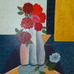 """""""Les 3 vases"""". Acrylique sur toile. Joce Falconnet"""
