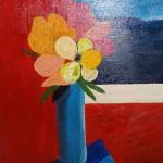 """""""Bouquet"""". Acrylique sur toile. Jocelyne Falconnet"""