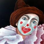 """""""Nez Rouge"""". Catherine Richard Acrylique sur toile."""