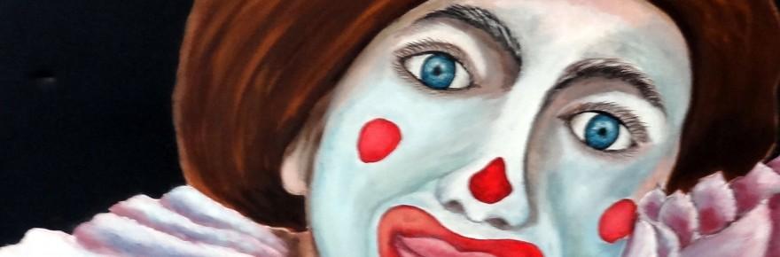 """""""Nez Rouge"""". Acrylique sur toile. Cat Richard"""