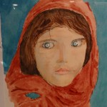 """Regard"". Aquarelle. M-Jo Bonnard"