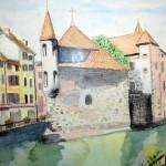 """""""Annecy"""". Aquarelle. M-Jo Bonnard"""