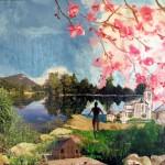 """""""Lac de la Balme"""". Techniques mixtes. Cathy Fauré"""