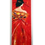 La Geisha, d'après Sheila Van Berkel. Natacha Traber. Huile sur toile