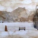Cathy Fauré Broux de Noix sur papier 30 x 21cm