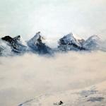 Montagne, espace sauvage. Natacha Traber Huile sur toile