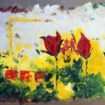 """Tulipes"" Huile sur toile. Christine Guillot"