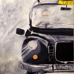 Taxi. Cathy Fauré. Acrylique sur toile