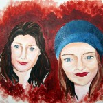Cécile & Jule. 65X50 Acrylique papier (1)