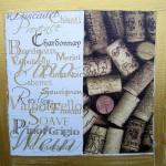 """""""Bouchons""""  Collage et peinture sur carton toilé. 20x20cm"""