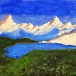 """""""Lac de montagne"""". Acrylique sur toile. Joce Falconnet"""