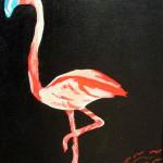"""""""Flamant Rose"""". Acrylique sur toile. Joce Falconnet"""