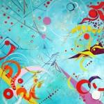 """""""Joie"""" 60 x60 Acrylique toile"""