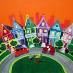 """""""San Francisco"""". Acrylique 55x38. Cathy Fauré"""