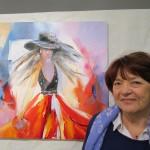 """Christiane Meyer. """"femme au chapeau"""""""
