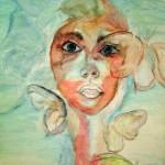 portrait en cours de réalisation par Christine