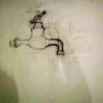 Pose du dessin par Christine