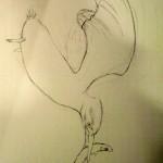 Pose du dessin par Marie-Jo