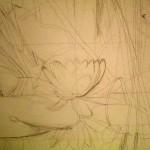 Pose du dessin par Sophie