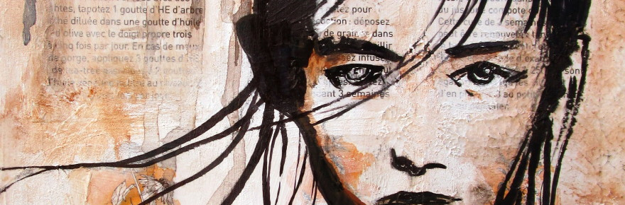 Jeune Fille - Technique Mixte - Cathy Fauré