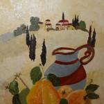 """""""Cruche"""".Acrylique sur toile; Jocelyne Falconnet"""