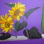 """""""Soleils"""". Acrylique sur toile; Jocelyne Falconnet"""
