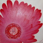 """""""Fleur"""". Acrylique sur toile. Jocelyne Falconnet"""
