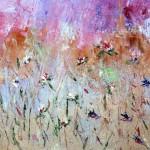"""""""Fleurs des champs"""". Huile sur toile. Christine Guillot"""