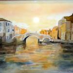"""""""Venise"""". Aquarelle. M-Jo Bonnard"""