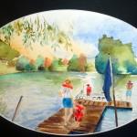 Cathy Fauré Aquarelle 24 x 32cm