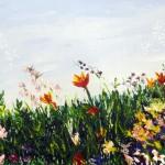 """""""Fleurs des jardins"""" Huile sur toile. Christine Guillot"""