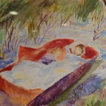 """Enfant"". Aquarelle. M-Jo Bonnard"