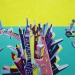 """""""New York""""  Acrylique 55x38. Cathy Fauré"""