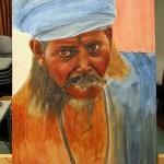 portrait en cours de réalisation  par Natacha